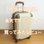 修学旅行3泊4日用スーツケースを買ってみた(POP-DO,FK1212-1)